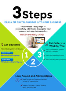 3 Steps to easily fit Gallery Digital Signage into your business