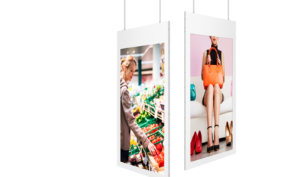 Sleek Hanging Single-Sided Digital Signage
